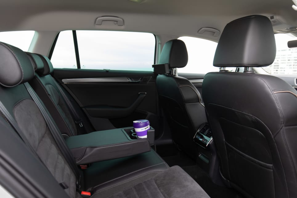 Rear passengers have lots of leg space in the Superb Scout wagon.