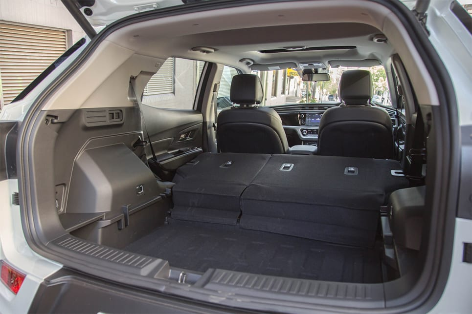 The cargo capacity of the Korando is 551 litres.