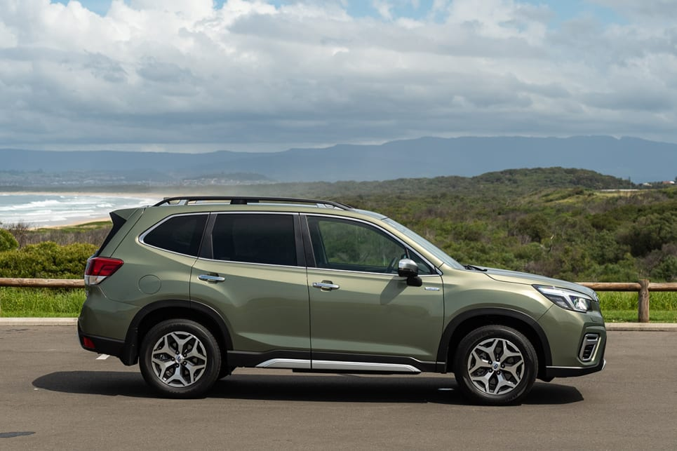The Forester is available in Jasper Green metallic as you see here.