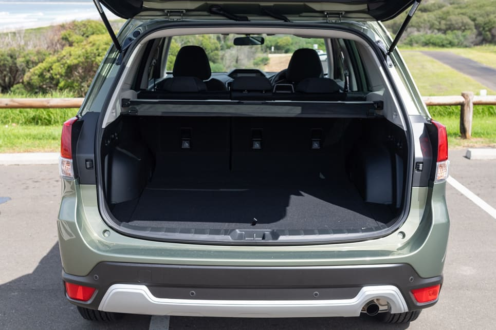 The Forester offers a claimed 509 litres (VDA) of storage space.