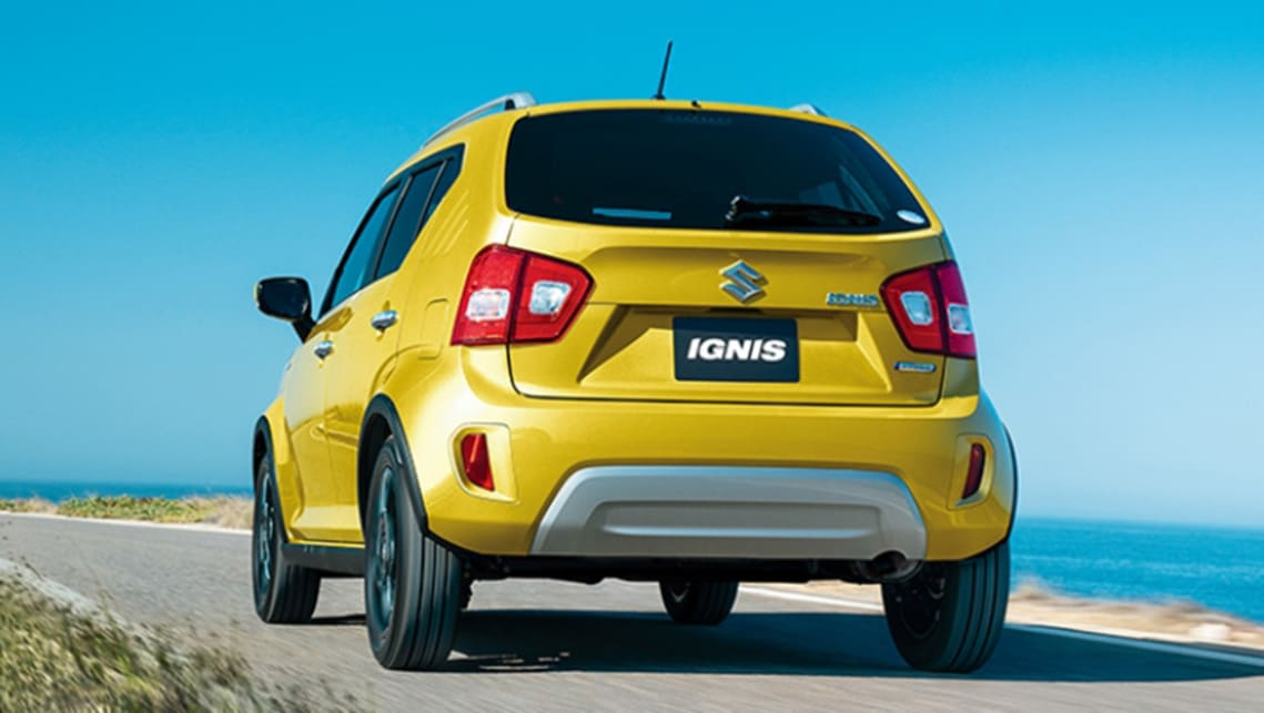 The new Ignis flagship in Japan has a rugged rear bumper.