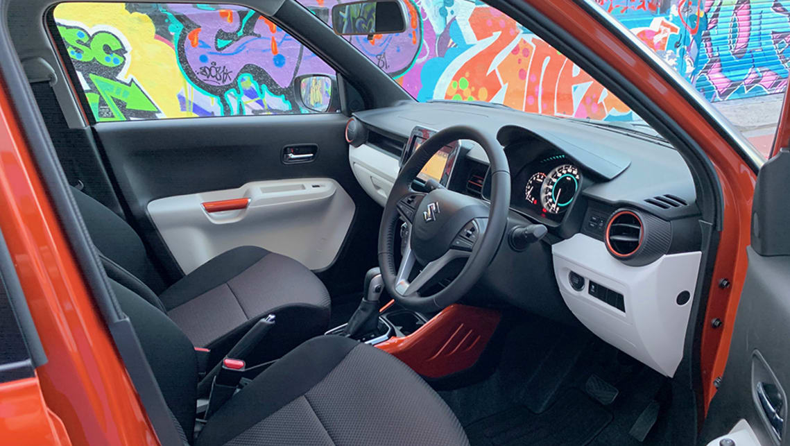 For such a compact car, the Ignis is surprisingly big on space inside. (image: Matt Campbell)