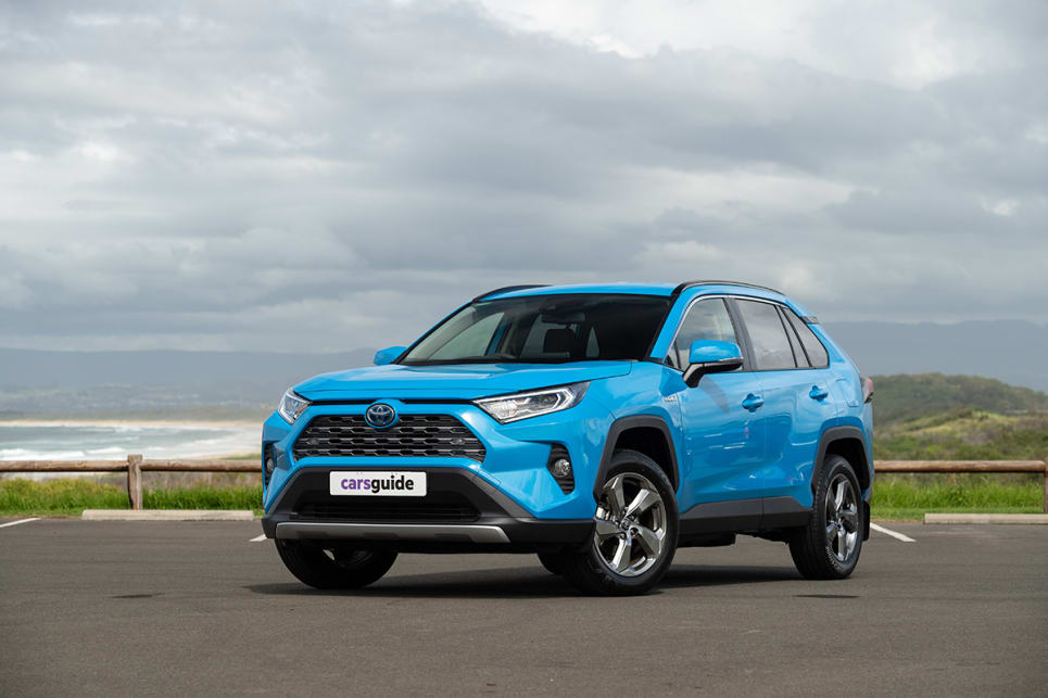 The Toyota RAV4 GXL Hybrid AWD is one of six different petrol-electric models available in the RAV4 range.