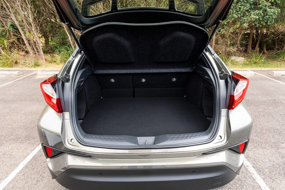Toyota C-HR with rear seats in place.