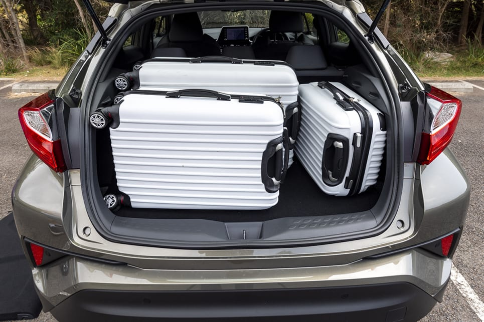 Toyota C-HR with luggage.