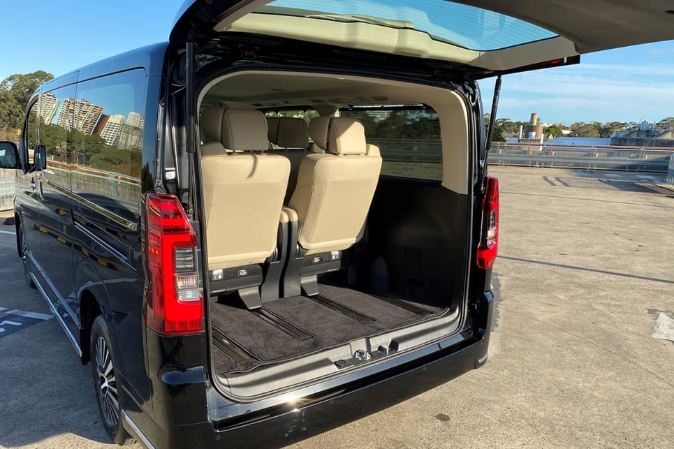 The six-seater can be set up to have a larger cargo capacity than the eight-seater, but the boot space could be more funtional.