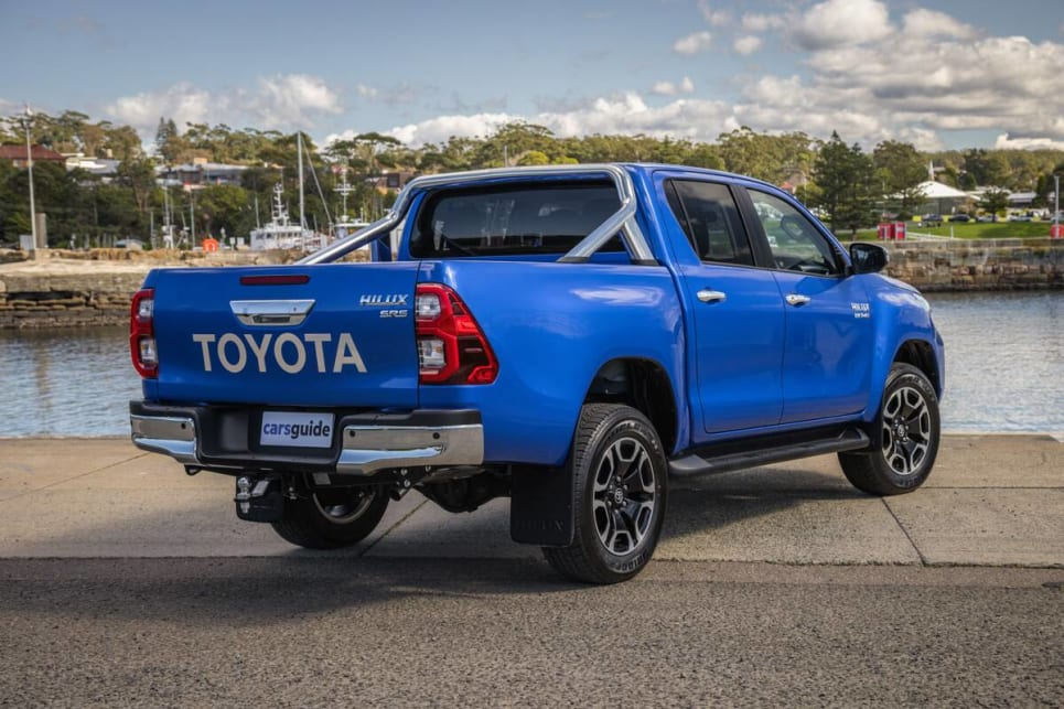 The HiLux wears two-tone 18-inch wheels.