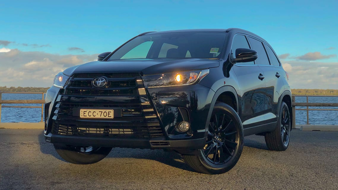Take a Kluger GXL, paint some bits black, bolt on a bigger set of black wheels, charge the customer (not much) more and voila! It's the Kluger Black Edition. (image: Peter Anderson)
