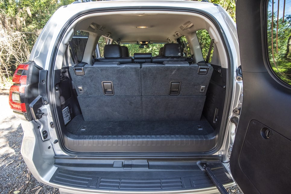 With the third-row seats in use, boot space is claimed to be 104 litres.