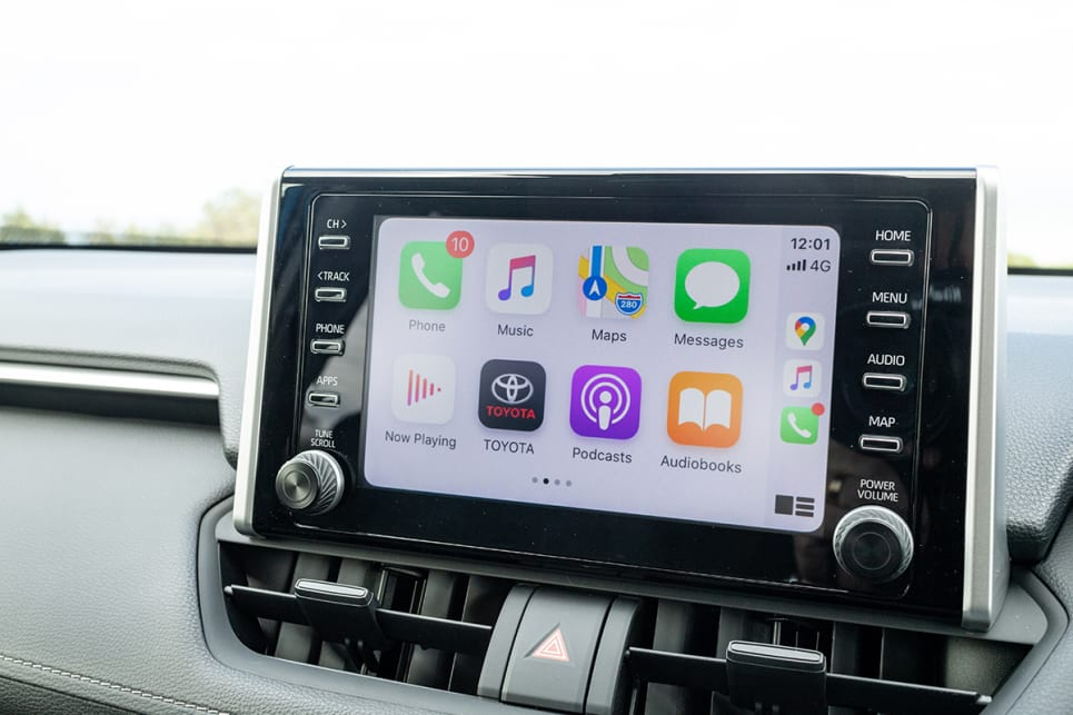 The RAV4 has an 8.0-inch media screen.