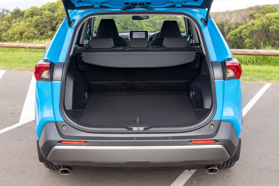 For the RAV4, the boot capacity is up to 580L (VDA) with all seats in play.