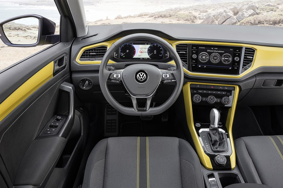 The T-Roc's interior will be similar to a Golf's for space.