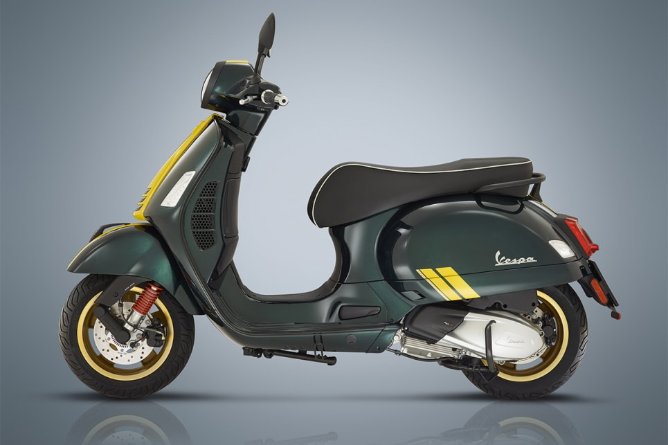 "The Vespa Racing Sixties series draws inspiration from the ""gentlemen riders' races of the '60s""."