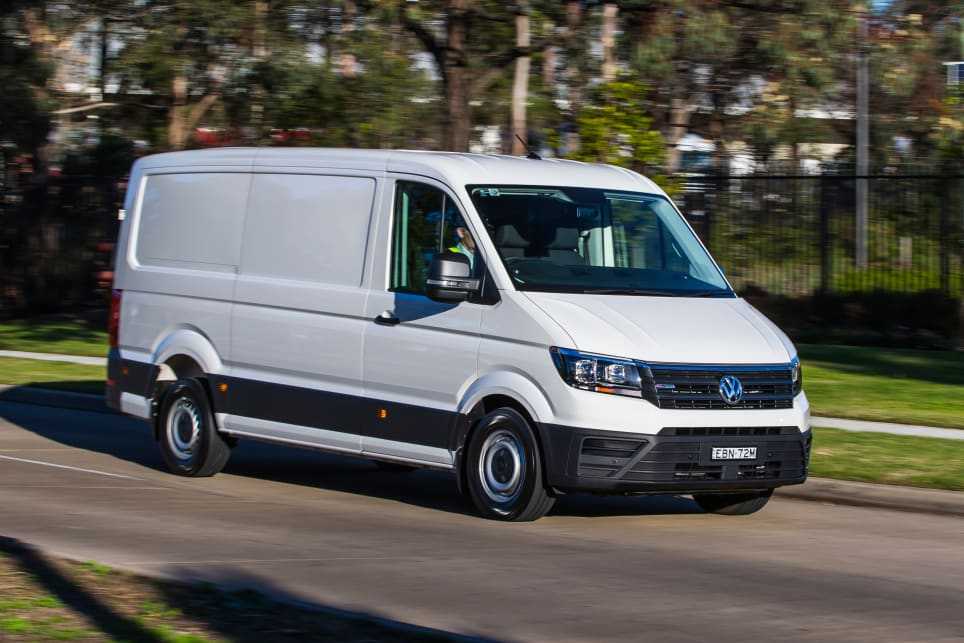 VW's big Crafter van now packs all-wheel traction.