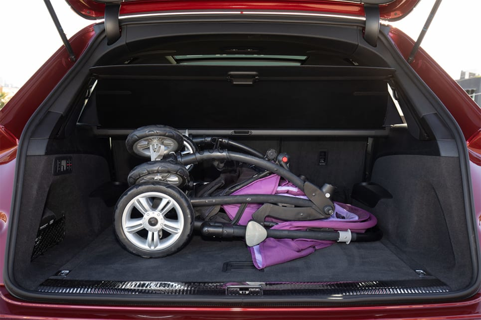 There's enough space to fit a double pram with room to spare.