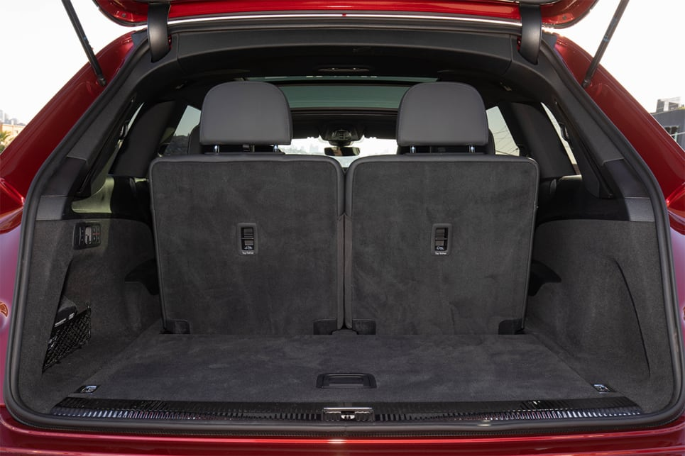 With all three rows in place, the boot is a small 295 litres (VDA).