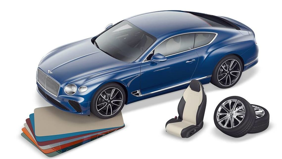 Tthe 1:8 model has the option of customisable paint, veneers and seat trim finishes.