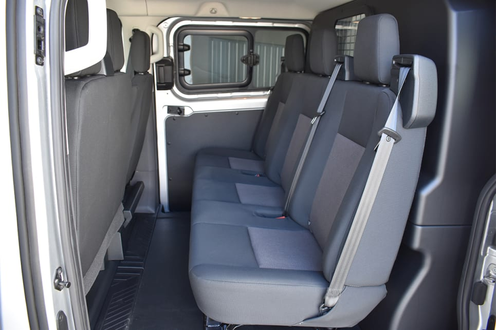 Being based on a commercial van means the rear seat passengers have a spacious flat floor.