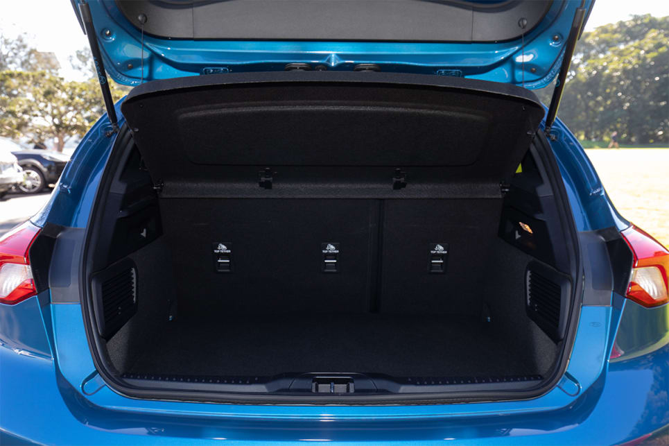 Boot space is rated at 273 litres.