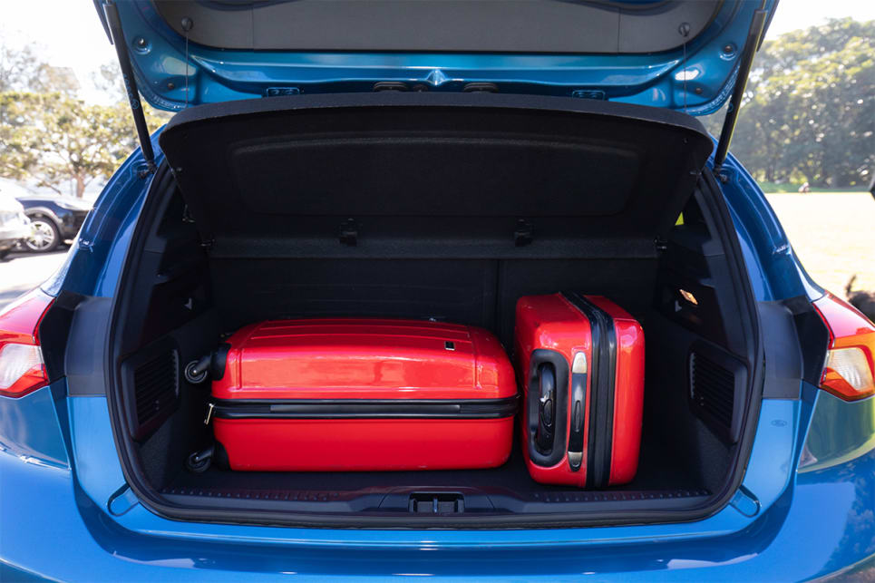 The ST's cargo area is 68 litres less than the regular Focus.