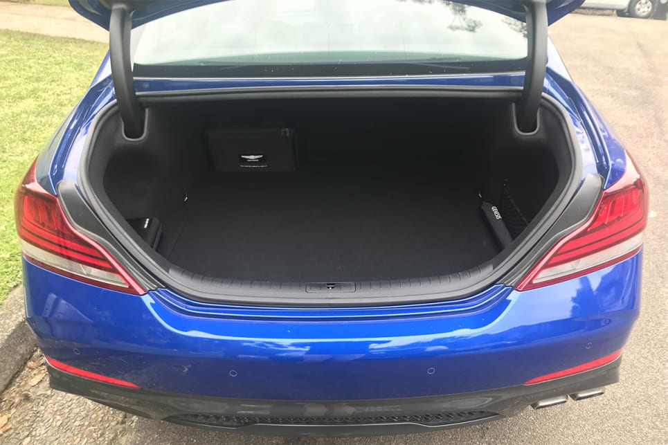 Boot space is rated at 330 litres (VDA).