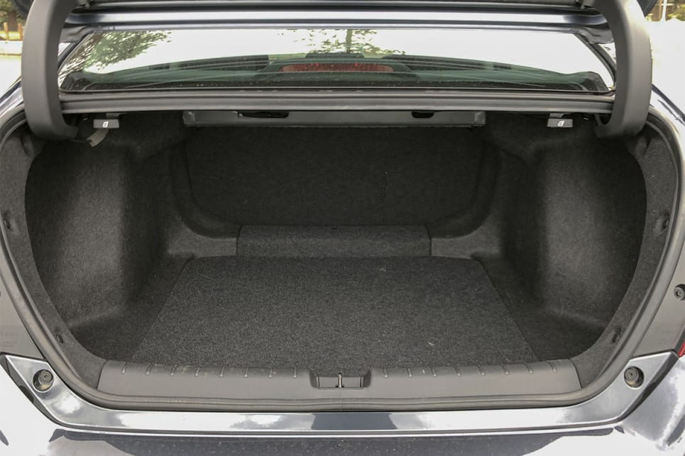 With the rear seats in place, boot spaces is rated at 519-litres.