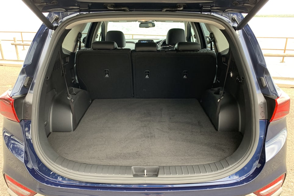 Cargo space is rated at 547 litres.