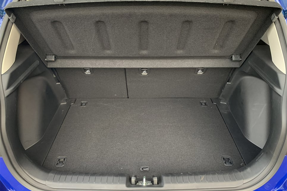 With the rear seats in place, boot space is rated at 355 litres.