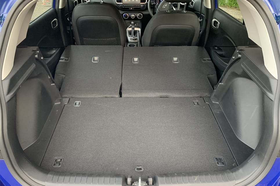 Fold the rear seats down and that figures grows to 903 litres.