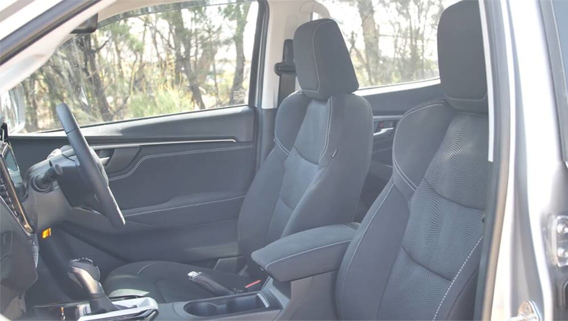 The D-Max's seats are comfortable and well sculpted.