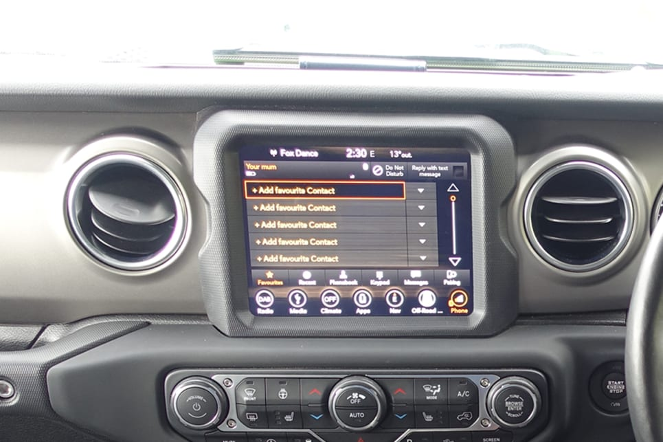 Inside, there's a 8.4-inch Uconnect touchscreen.