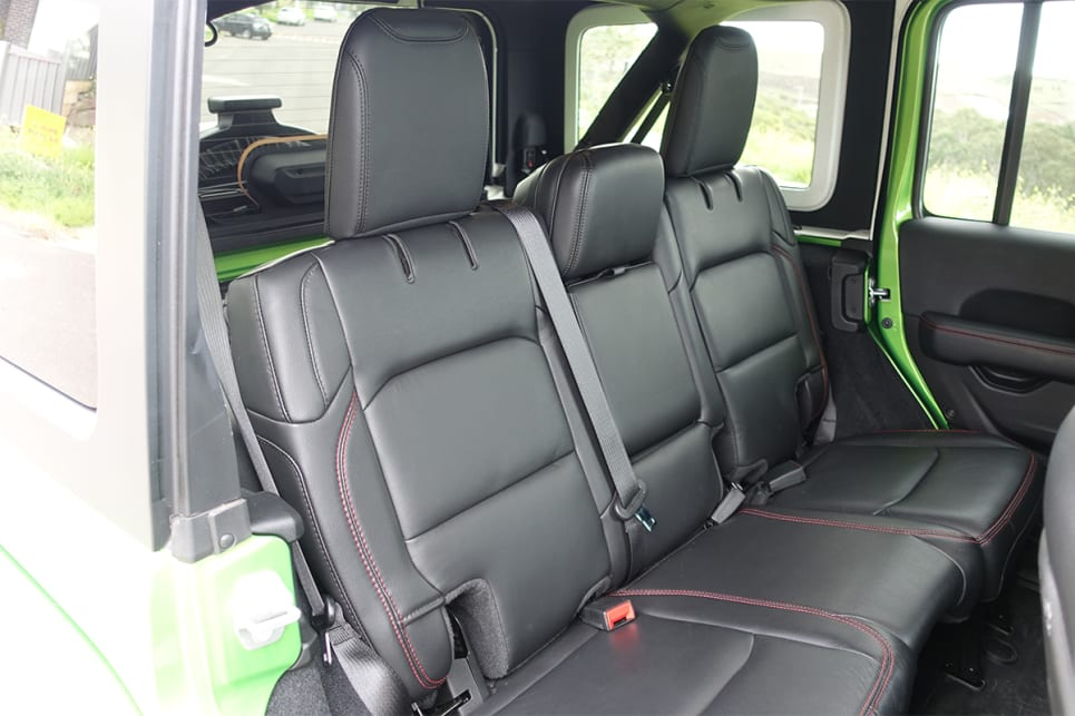 The backseats also offer ample room for adults.