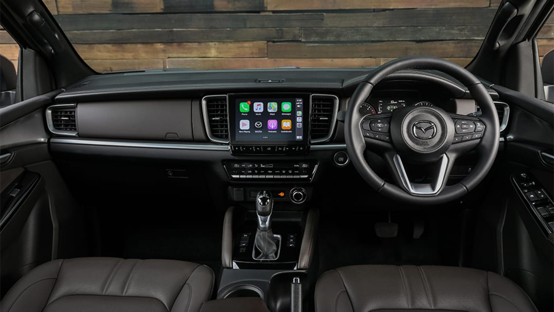 The BT-50 sports a large multimedia touchscreen system, complete with satellite navigation and wireless Apple CarPlay/Android Auto support.