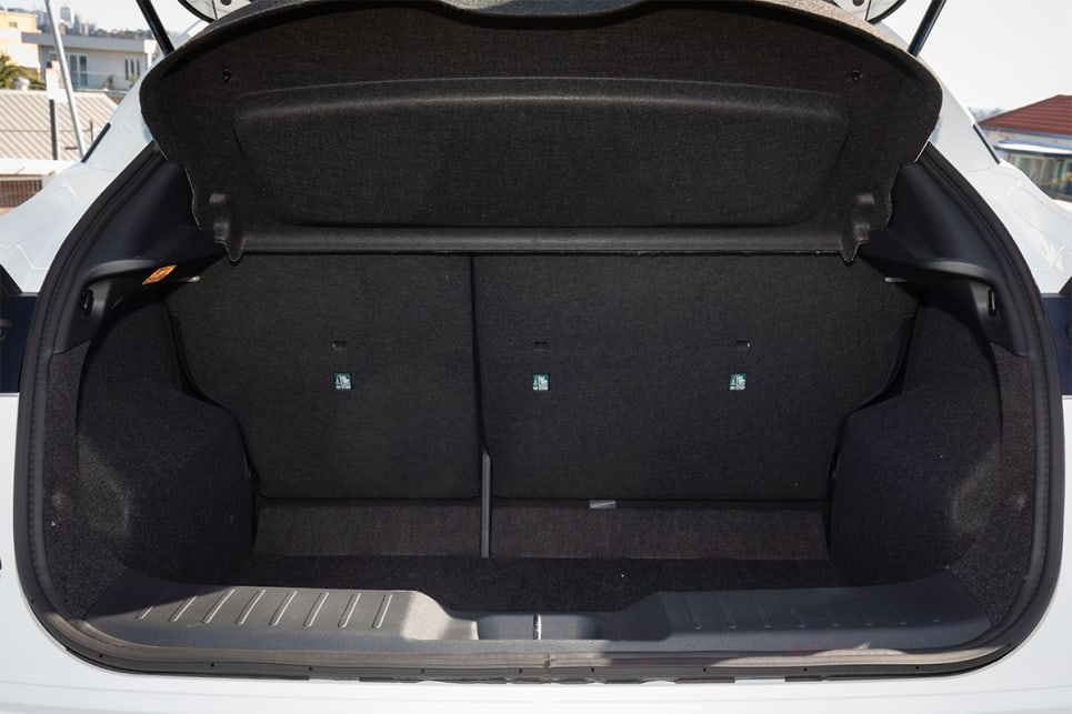 Boot space is rated at 422 litres.