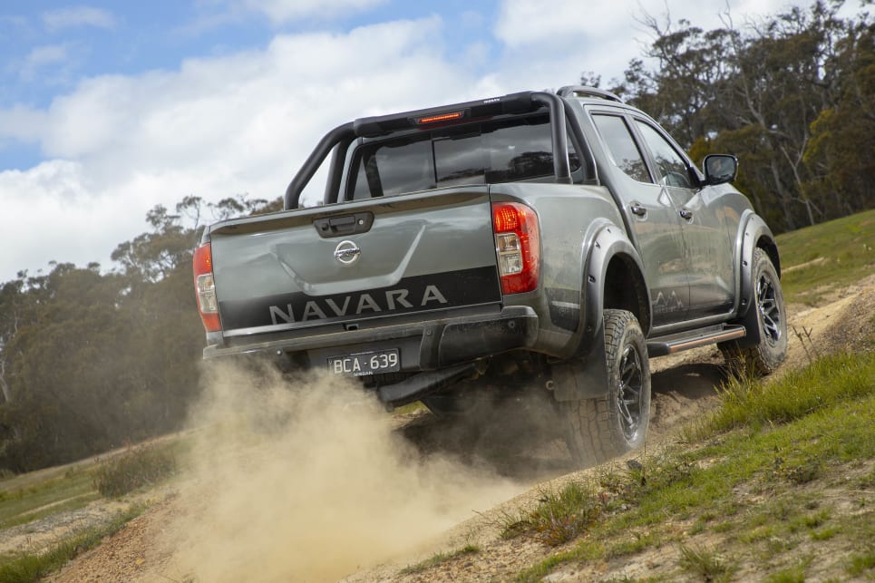 The Warrior feels significantly different to a regular Navara, particularly off-road.