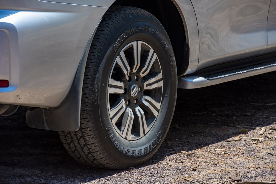 The Ti-L Patrol scores 18-inch alloy wheels.