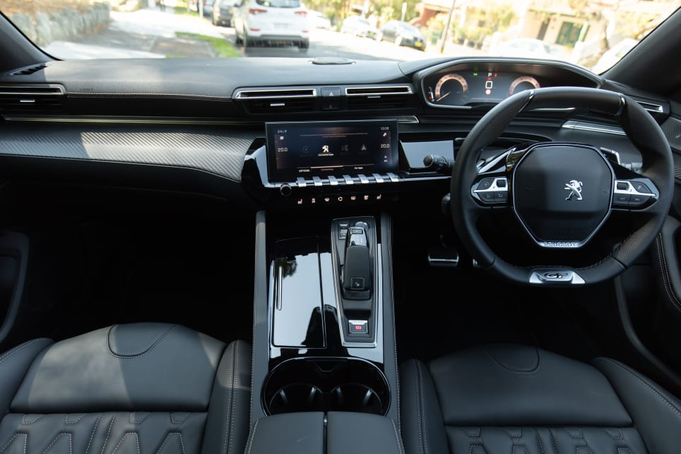 The 508 centre console looks fabulous, with a high-gloss finish and piano keys under the 12.3inch multimedia screen.