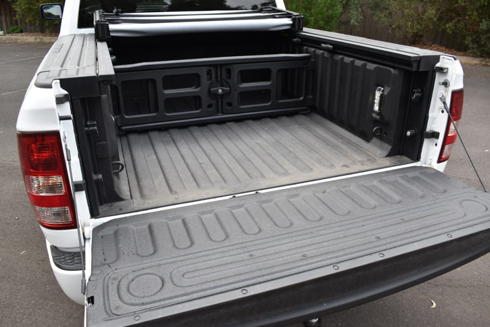 With the tailgate closed, the load tub's internal dimensions are 1712 x 1270 x 509mm.