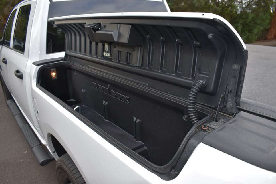 The RAMBOX storage compartments on either side offer a combined capacity of 420 litres.