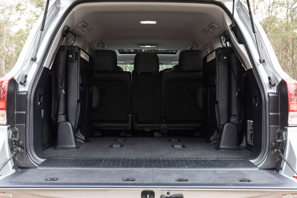 When the third row is stowed away, the cargo capacity is officially listed as 1276 litres.