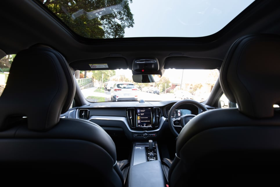 There is a huge panoramic sunroof which extends to the back seat.