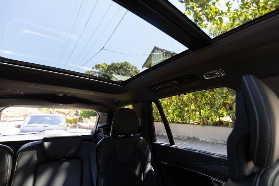 This car came with a panoramic glass roof which stretched all the way to the back. It's part of the 'Premium Pack' option.