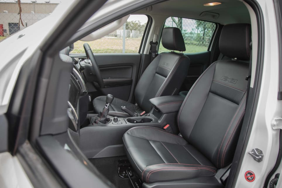 The front seat space is comfortable and usable.