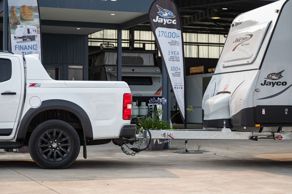 The Z71 auto has a claimed payload of 987kg, an unbraked towing capacity of 750kg and a braked towing capacity of 3500kg.