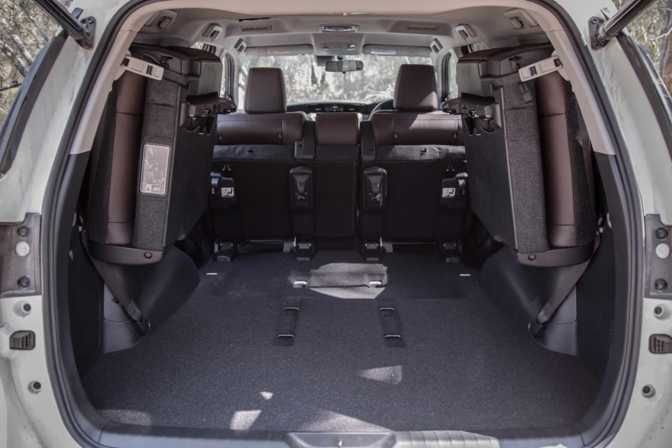 With the second-row folded forward, there's a claimed 1080 litres of cargo space.