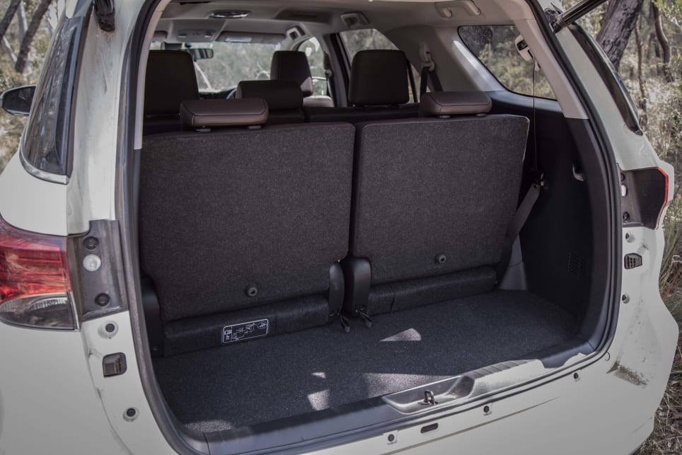 Boot space is 200 litres with the third-row seats in use.