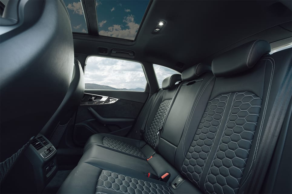 In the back, rear seat riders get the same premium interior treatment as the driver.