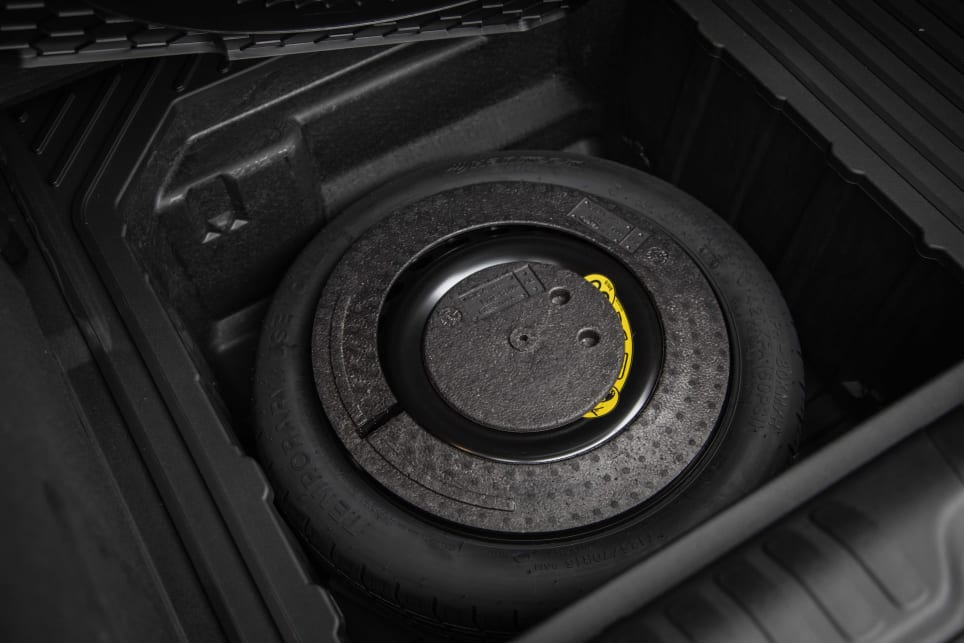 Under the boot floor is a space saver spare wheel (picture: 2021 Puma ST-Line V).