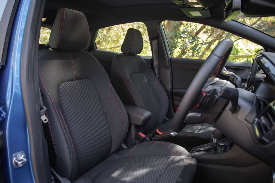 The ST-Line has a more athletic looking interior (pictured: Puma ST-Line).