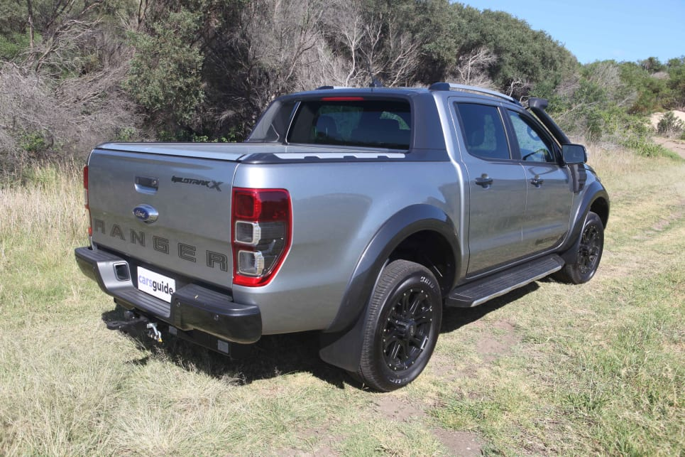 The X retains the Wildtrak's big-ute presence.